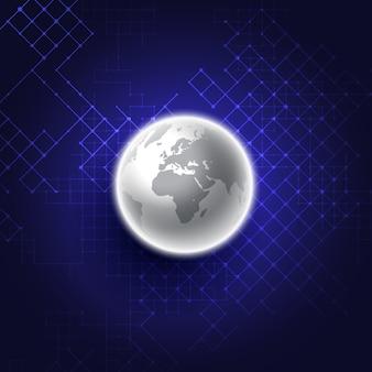 Abstrakter glühender globusdesignhintergrund