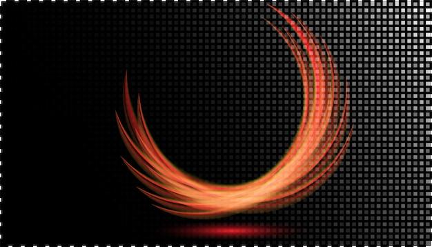 Abstrakter glühender neonlichteffekt an transparentem