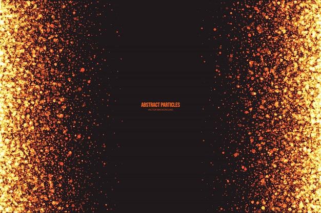 Abstrakter glühender runder partikelvektorhintergrund