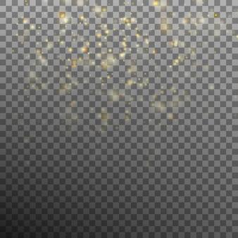 Abstrakter goldbokehhintergrund.