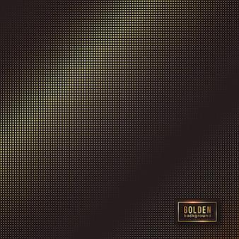 Abstrakter goldener hintergrund. halbton-effekt mit luxuriösem gepunktetem design.