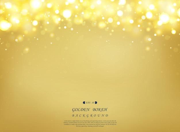 Abstrakter goldener hintergrund mit dem funkeln dekorativ auf die oberseite.