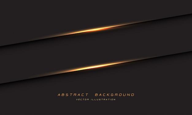 Abstrakter goldener lichtlinienschatten auf dem modernen luxusfuturismushintergrund des dunklen grauen metallischen entwurfs