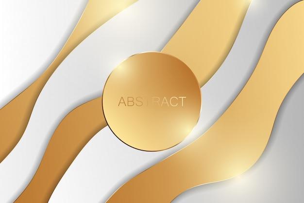 Abstrakter goldener luxushintergrund. vektorillustration