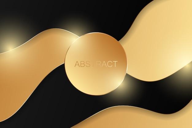 Abstrakter goldener luxushintergrund.