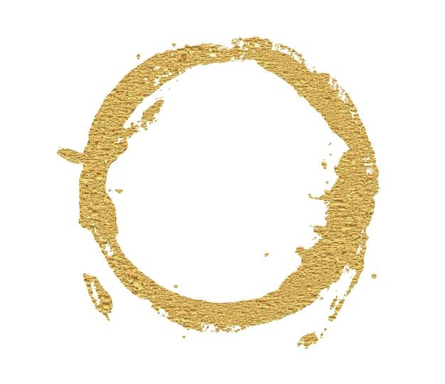 Abstrakter goldener runder rahmen