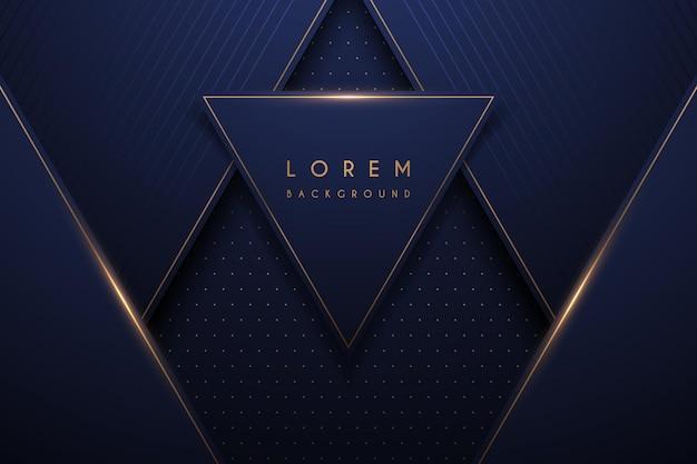 Abstrakter goldener und blauer luxushintergrund