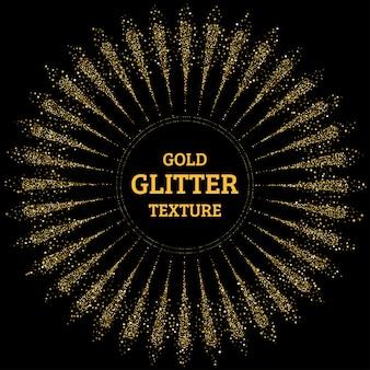 Abstrakter goldglitzerspritzerhintergrund
