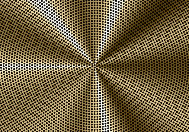 Abstrakter goldkreismaschen-sprechermuster-luxushintergrund.