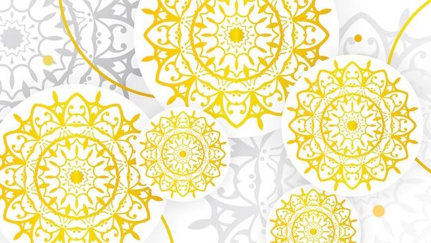 Abstrakter goldmandala-kunst-dekorativer hintergrund 1