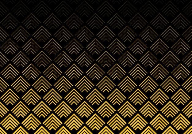 Abstrakter goldsparren zeichnet musterhintergrund