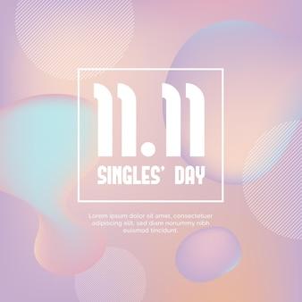 Abstrakter gradient singles tag