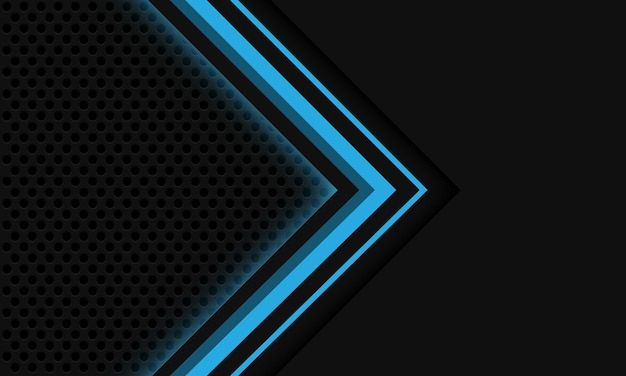 Abstrakter grauer blauer lichtpfeilkreismaschendesign moderner futuristischer technologiehintergrund des luxus