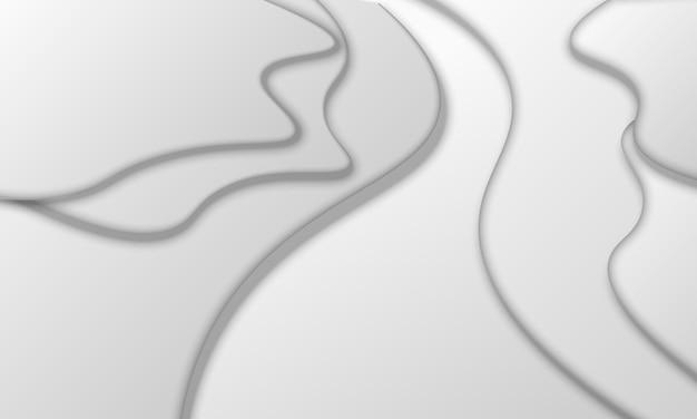 Abstrakter grauer flüssiger hintergrund. vektor-illustration. muster für texturen von tapeten.