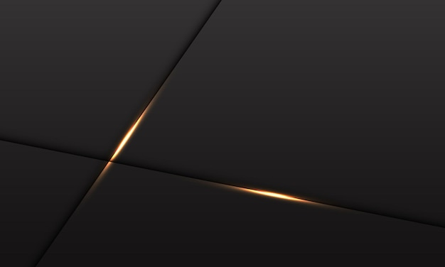 Abstrakter grauer metallischer hintergrund mit goldenem lichtkreuz auf schwarz