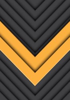 Abstrakter grauer musterhintergrund des doppelten gelben pfeiles.