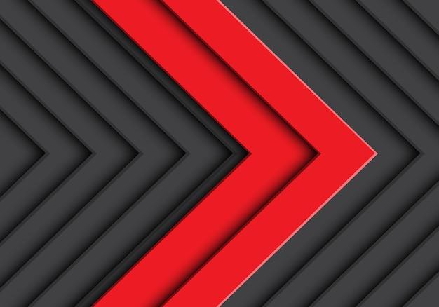 Abstrakter grauer musterhintergrund des doppelten roten pfeiles.
