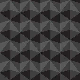 Abstrakter grauer und schwarzer dreieckmusterhintergrund