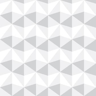 Abstrakter grauer und weißer dreieckmusterhintergrund, vektorillustration