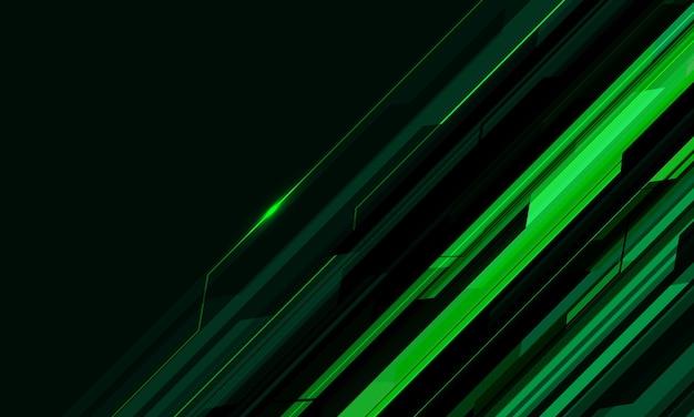 Abstrakter grüner cyber-schaltkreis geometrischer leerraumentwurf futuristischer technologiehintergrundvektor
