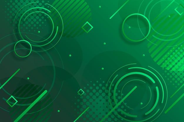 Abstrakter grüner geometrischer hintergrund