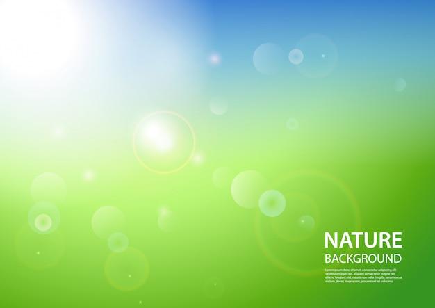 Abstrakter grüner gradientenhintergrund. naturkulisse. illustration