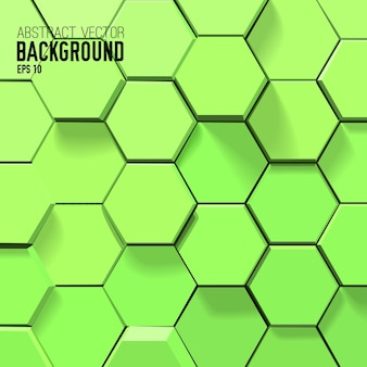 Abstrakter grüner hintergrund mit geometrischen sechsecken