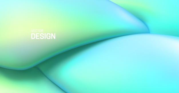 Abstrakter grüner hintergrund mit weichen elastischen formen