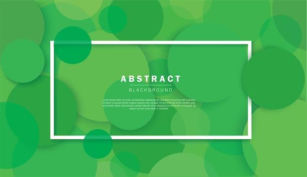Abstrakter grüner kreishintergrund