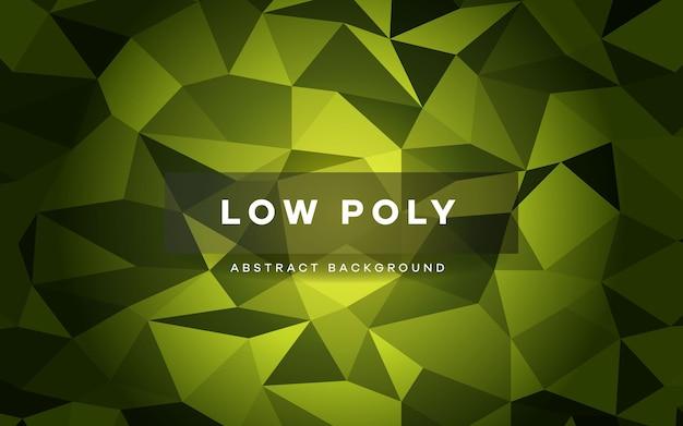 Abstrakter grüner niedriger polykristallhintergrund.