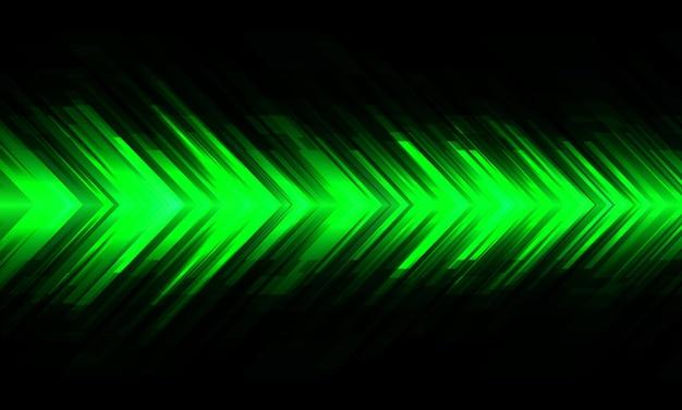 Abstrakter grüner pfeil macht geometrisches richtungsdesign moderner futuristischer technologiehintergrundvektor