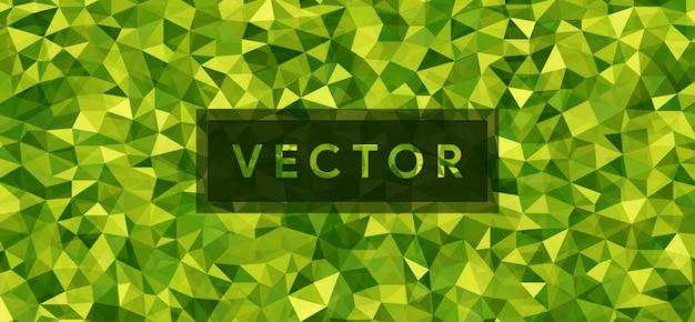 Abstrakter grüner polygonaler hintergrund