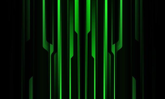 Abstrakter grüner schwarzer metallischer schatten schwarze linie cyber geometrisches musterdesign modern