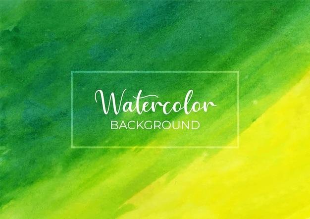 Abstrakter grüner und gelber aquarellbeschaffenheitshintergrund