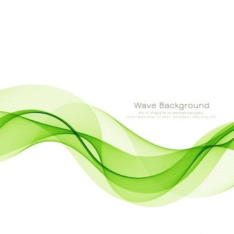 Abstrakter grüner wellengeschäftshintergrund