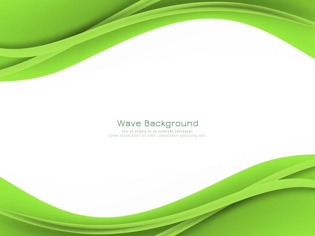 Abstrakter grüner wellenhintergrund