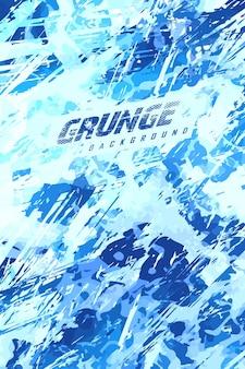 Abstrakter grunge-blauer meereshintergrund für extreme trikot-teams, rennen, radfahren, fußball, spiele
