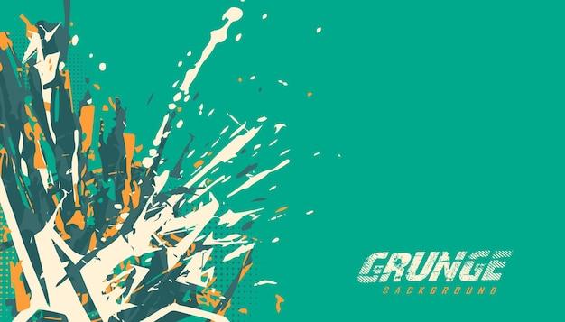 Abstrakter grunge-farbspritzer-hintergrund für trikot-teamrennen, das radsport-fußballspiele