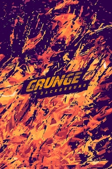 Abstrakter grunge-flammen-hintergrund für extremes trikot-team, rennsport, radsport, fußball, gaming