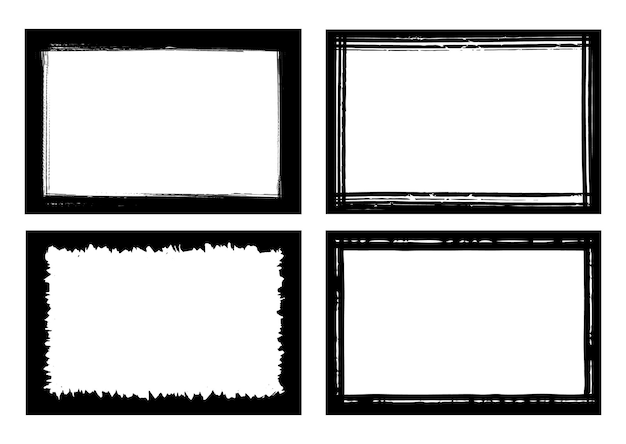 Abstrakter grunge-grenzrahmen-set