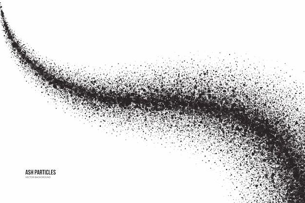 Abstrakter grunge-hintergrund dunkelgraue aschepartikel auf weiß