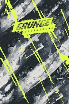 Abstrakter grunge-hintergrund für extremes trikot-team, rennsport, radsport, fußball, gaming