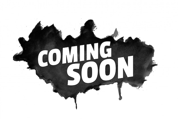 Abstrakter grunge-stil kommt bald mit schwarzem spritzer