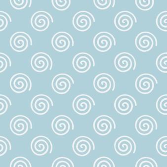 Abstrakter halber tropfen repeate weiße spirale mofit nahtlose hintergrundmuster