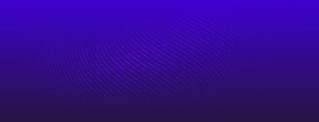 Abstrakter halbtonhintergrund aus kleinen punkten und wellenlinien in blauen farben