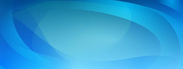 Abstrakter halbtonhintergrund aus kleinen punkten und wellenlinien in hellblauen farben