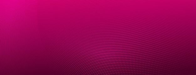 Abstrakter halbtonhintergrund aus kleinen punkten und wellenlinien in rosa farben