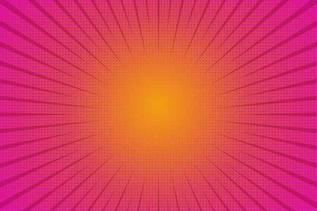 Abstrakter halbtonhintergrund. motion zoom comic-effekt