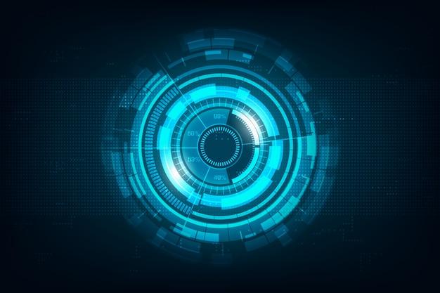 Abstrakter hallo geschwindigkeitsinternet-technologiehintergrund