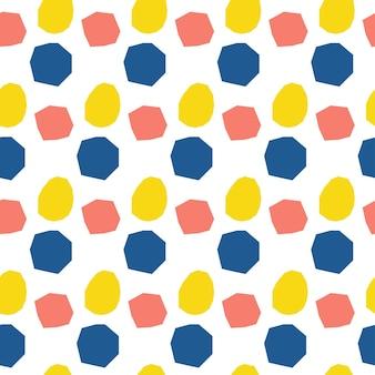 Abstrakter handgemachter runder nahtloser musterhintergrund. kindliche handgefertigte tapeten für designkarten, tapeten, alben, sammelalben, urlaubspapier, textilstoffe, taschendruck, t-shirts usw.